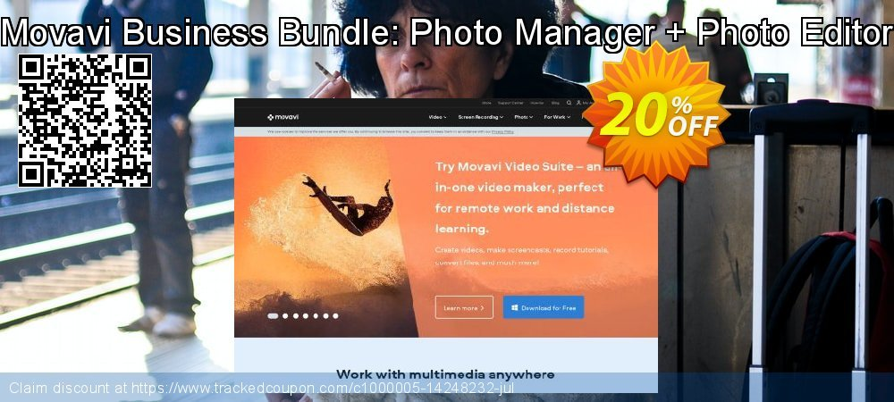 Movavi Business Bundle: Photo Manager + Photo Editor coupon on New Year offering discount