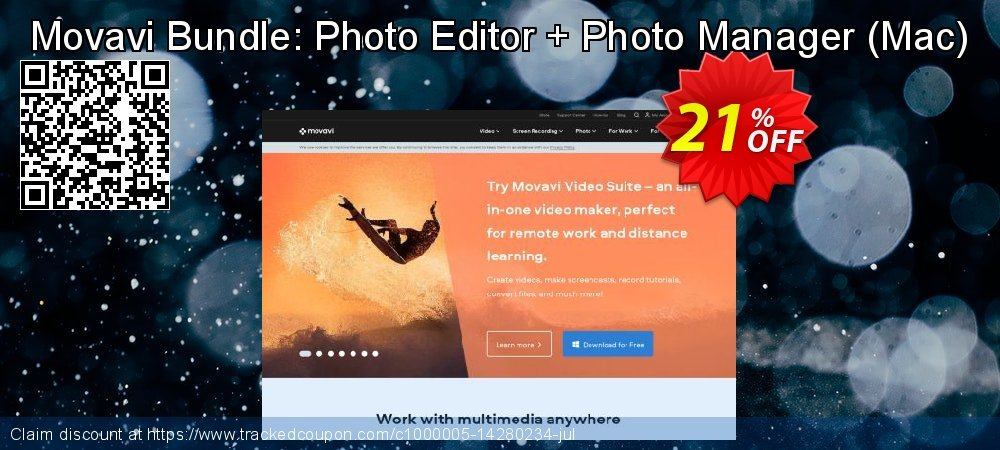 Movavi Bundle: Photo Editor + Photo Manager - Mac  coupon on Happy New Year offer