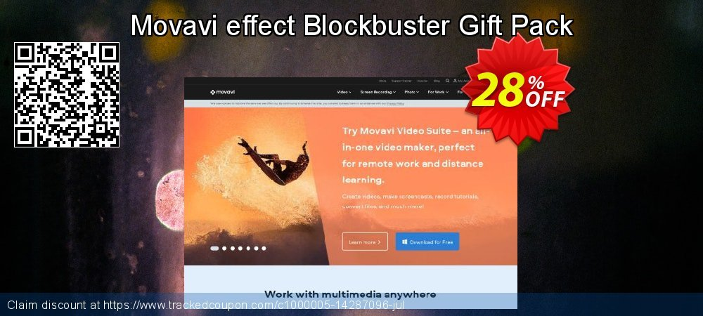 Movavi effect Blockbuster Gift Pack coupon on Thanksgiving discounts