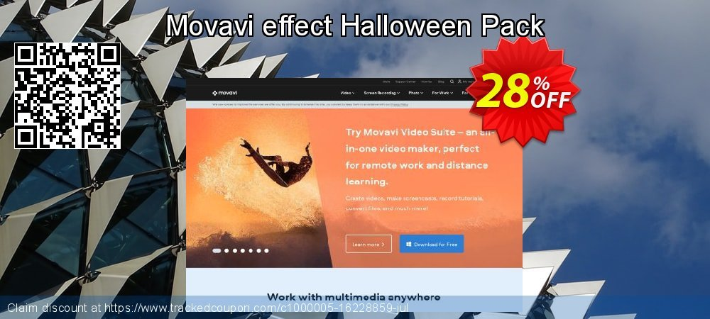 Movavi effect Halloween Pack coupon on Black Friday offer