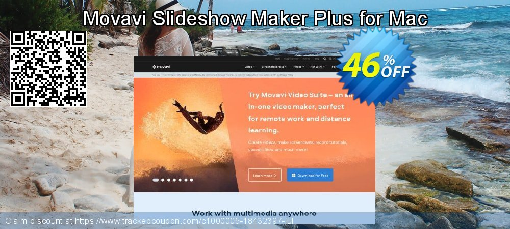 Movavi Slideshow Maker Plus - Mac  coupon on Back to School offer offering sales