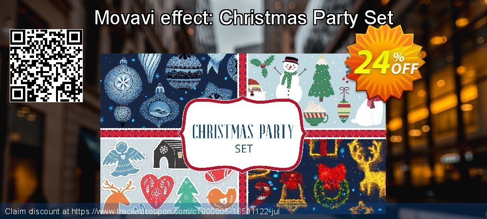 Movavi effect: Christmas Party Set coupon on Happy New Year discounts