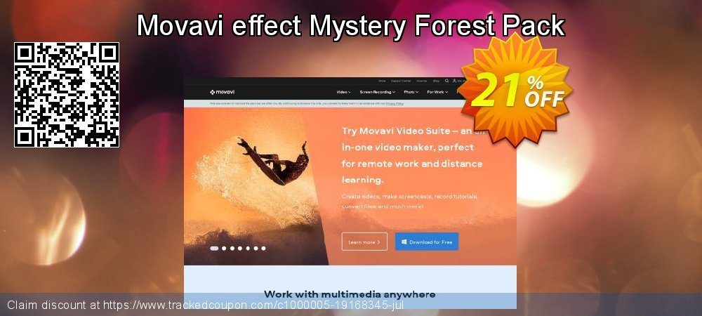 Movavi effect Mystery Forest Pack coupon on Black Friday discounts
