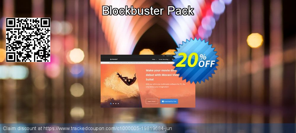 Movavi effect Blockbuster Pack coupon on Back to School season offering sales