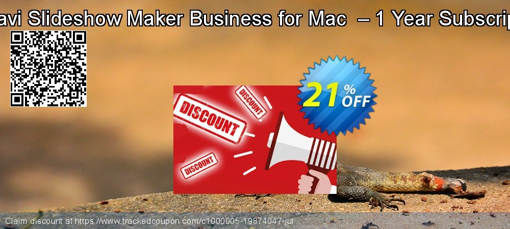 Movavi Slideshow Maker Business for Mac  – 1 Year Subscription coupon on Halloween sales