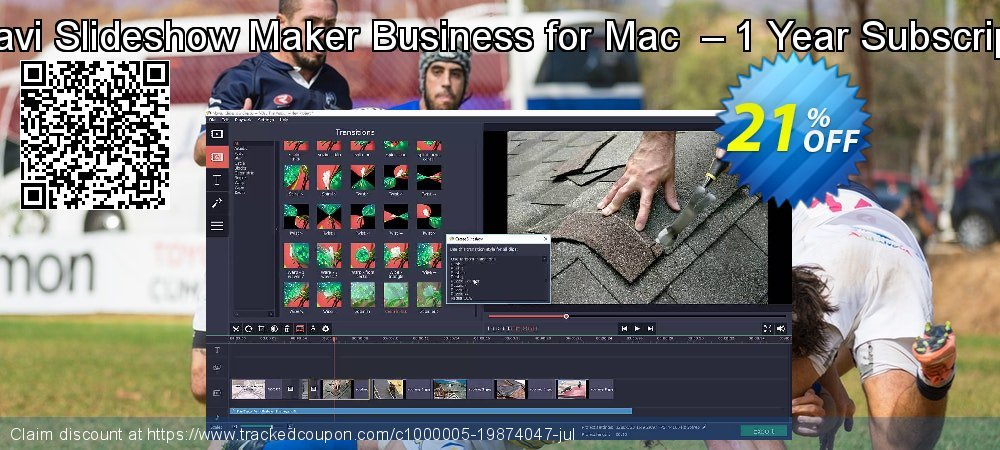 Movavi Slideshow Maker Business for Mac  – 1 Year Subscription coupon on Lunar New Year sales