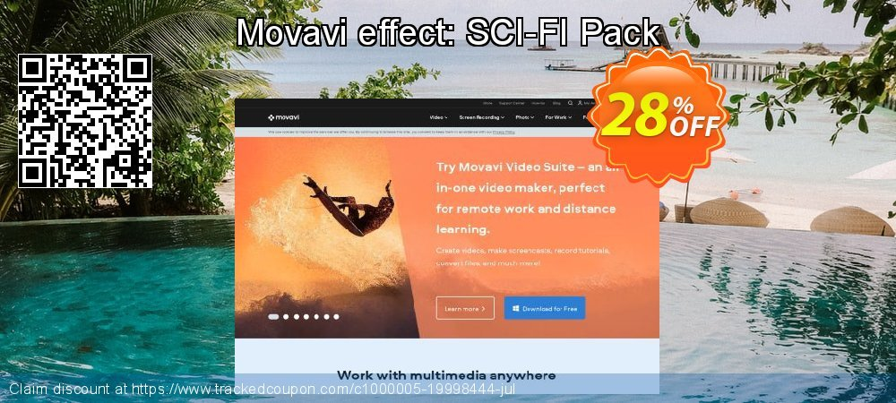 Movavi effect: SCI-FI Pack coupon on Thanksgiving sales