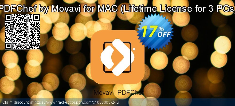 PDFChef by Movavi for MAC - Lifetime License for 3 PCs  coupon on Thanksgiving promotions