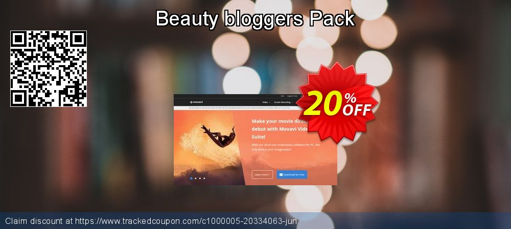 Movavi effect Beauty bloggers Pack coupon on Halloween promotions