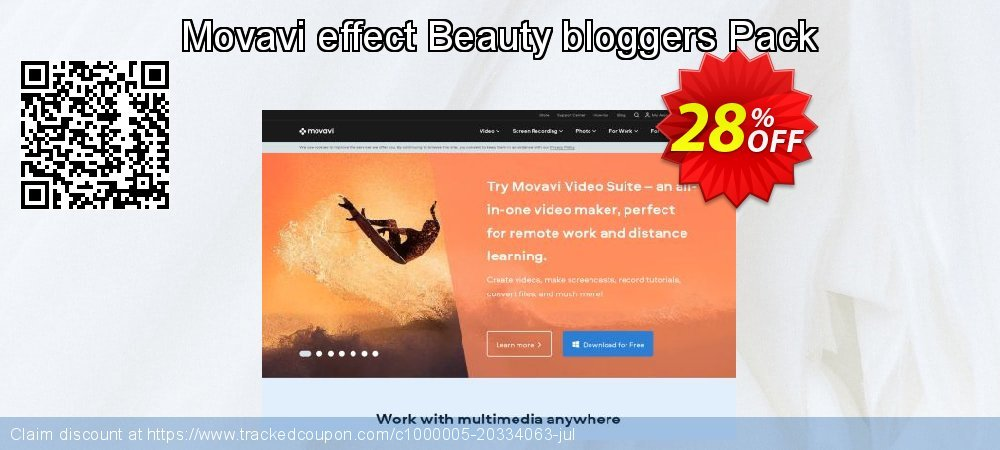 Movavi effect Beauty bloggers Pack coupon on Lunar New Year promotions