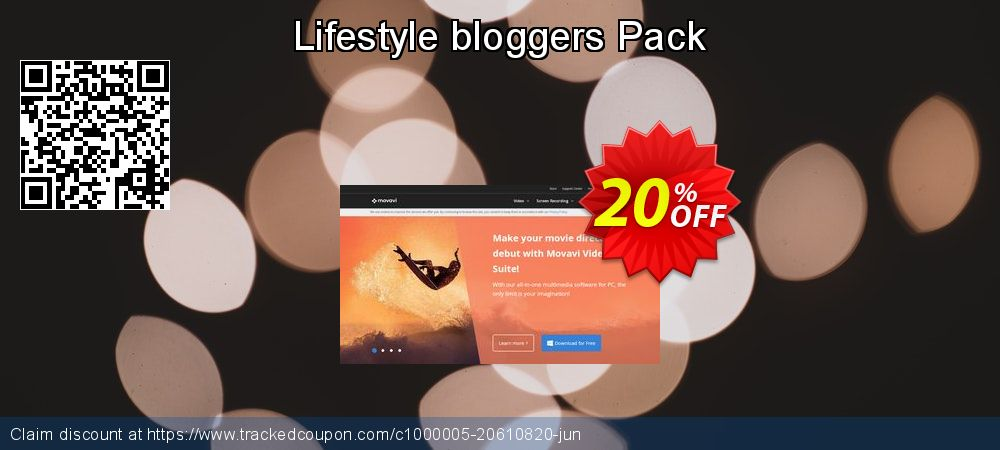 Movavi effect Lifestyle bloggers Pack coupon on Halloween super sale