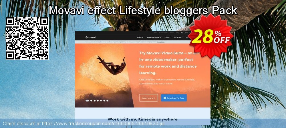 Movavi effect Lifestyle bloggers Pack coupon on New Year super sale
