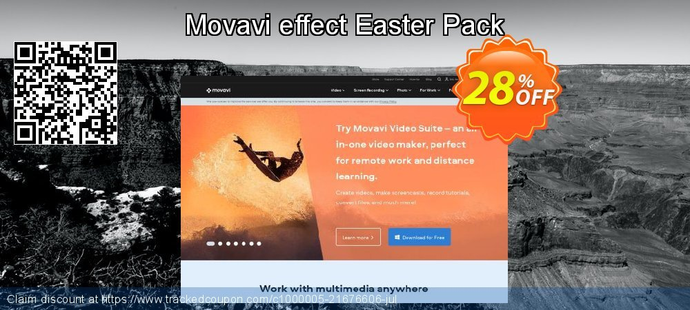 Movavi effect Easter Pack coupon on Thanksgiving offering discount