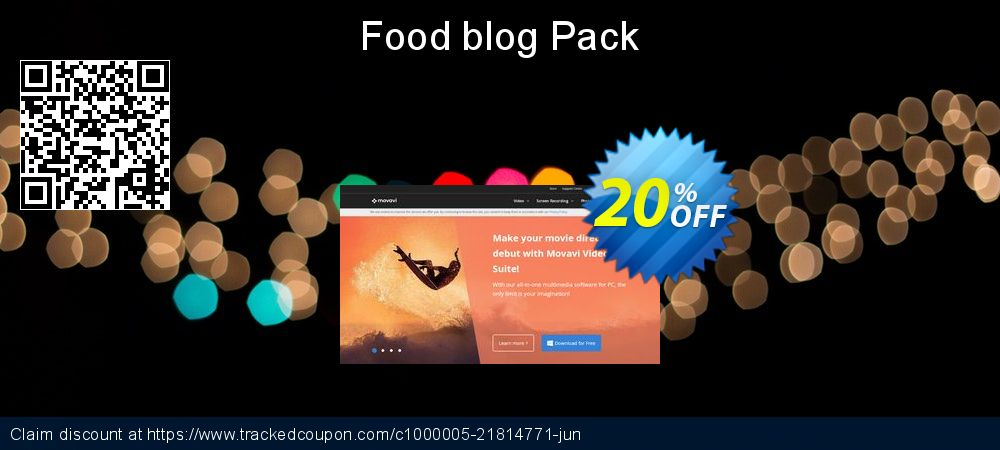 Movavi effect Food blog Pack coupon on Exclusive Student deals promotions