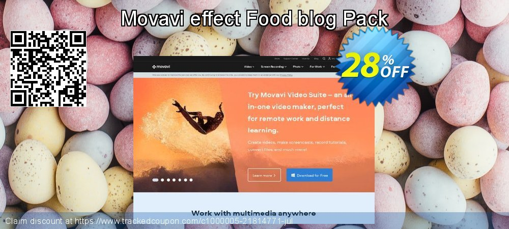 Get 20% OFF Movavi effect Food blog Pack offering deals