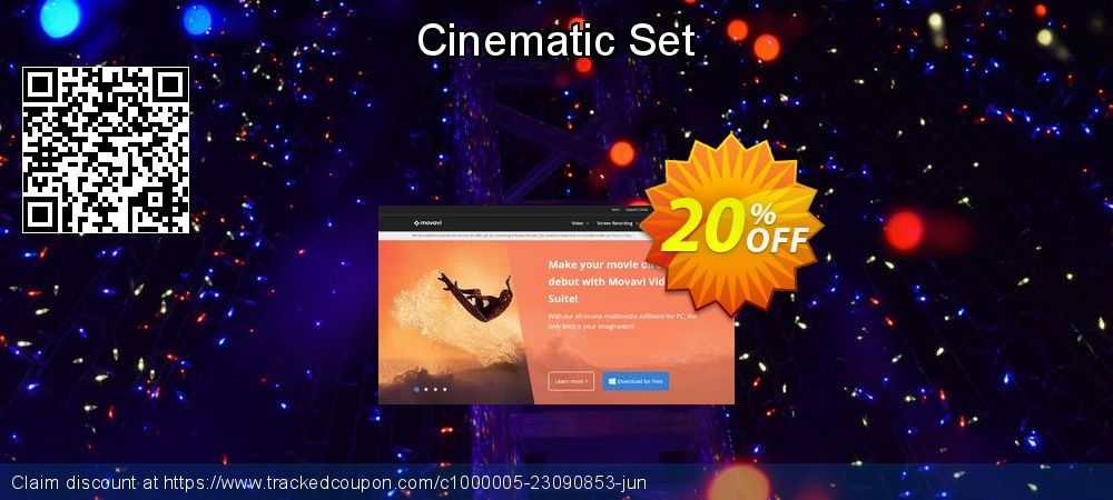 Movavi effect Cinematic Set coupon on Back to School promotions discounts