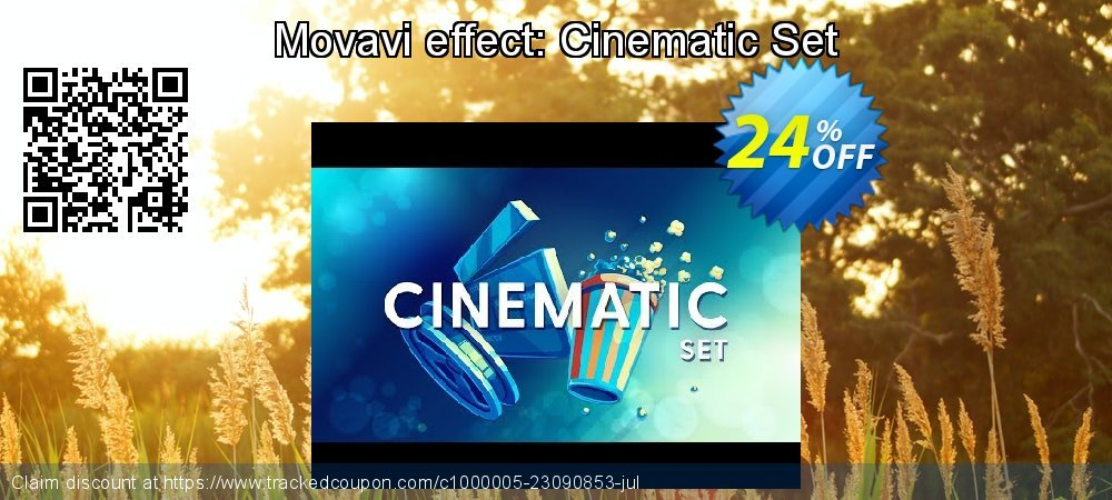 Movavi effect Cinematic Set coupon on New Year's Day promotions