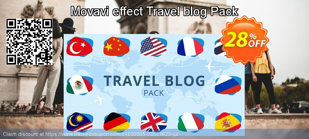 Movavi effect Travel blog Pack coupon on Black Friday offering sales