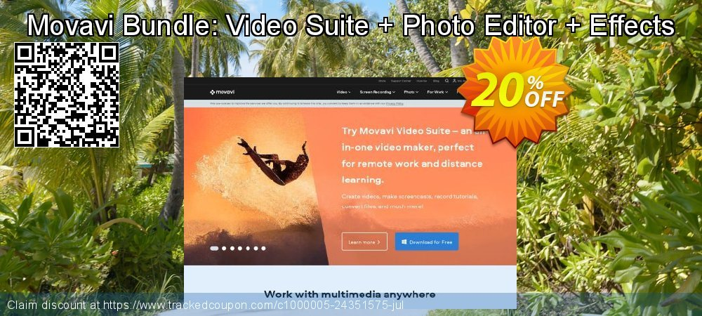 Movavi Bundle: Video Suite + Photo Editor + Effects coupon on Lunar New Year deals