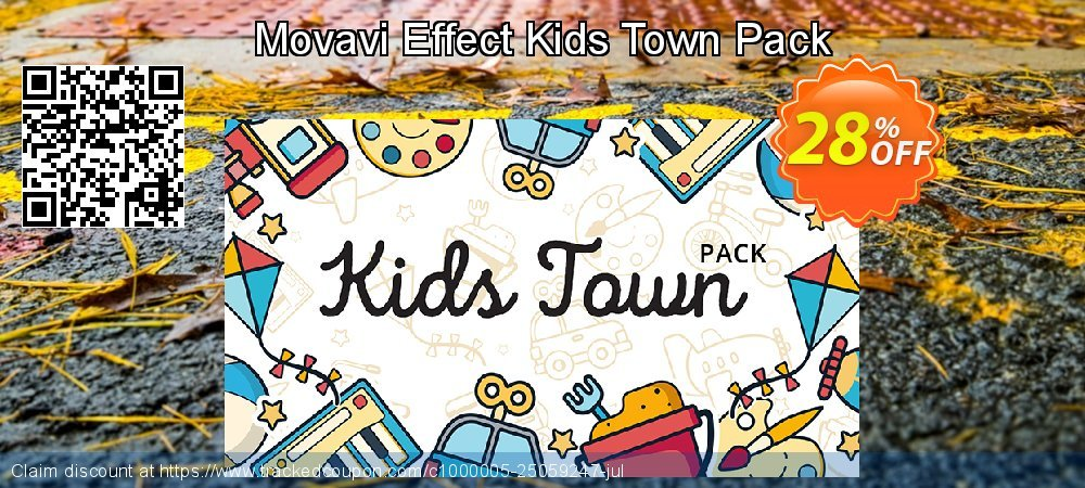 Get 20% OFF Movavi Effect Kids Town Pack offering sales