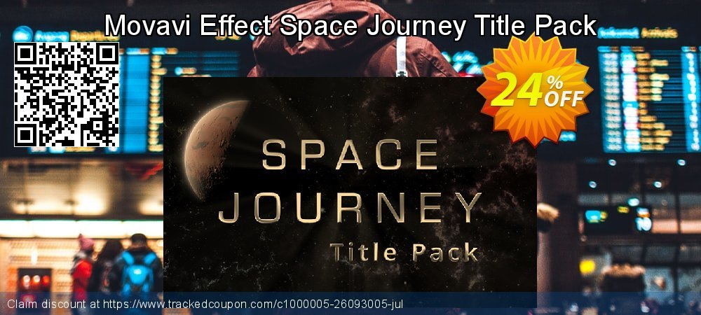 Movavi Effect Space Journey Title Pack coupon on Black Friday offering discount