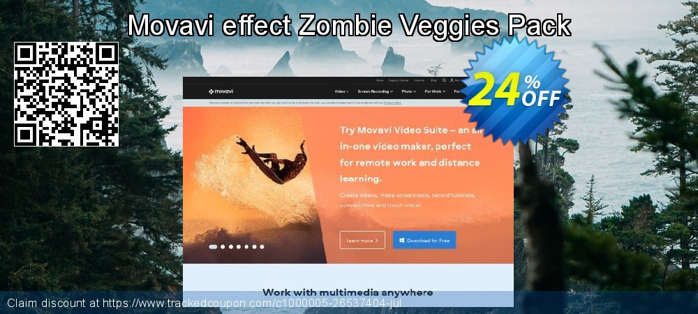 Get 20% OFF Movavi effect Zombie Veggies Pack discounts