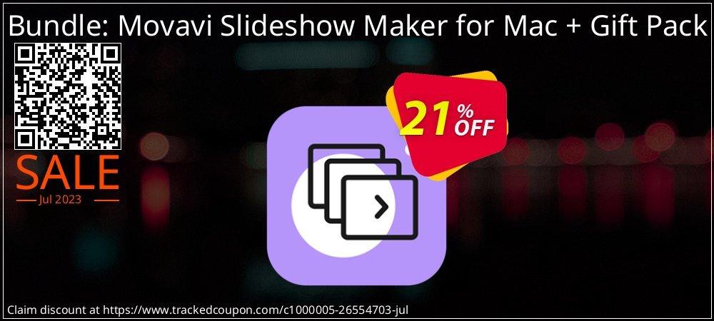 Bundle: Movavi Slideshow Maker for Mac + Gift Pack coupon on Black Friday offer
