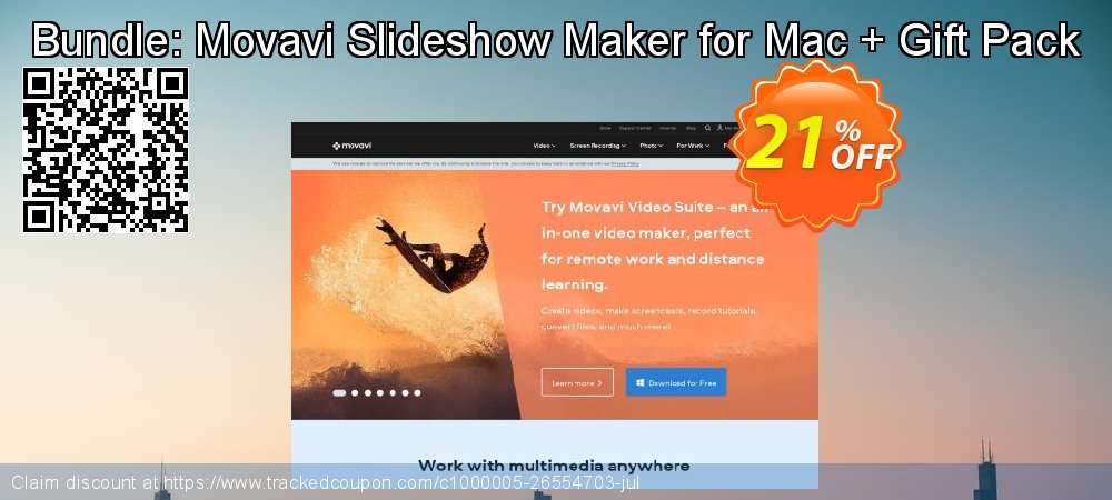 Bundle: Movavi Slideshow Maker for Mac + Gift Pack coupon on Back to School promo sales