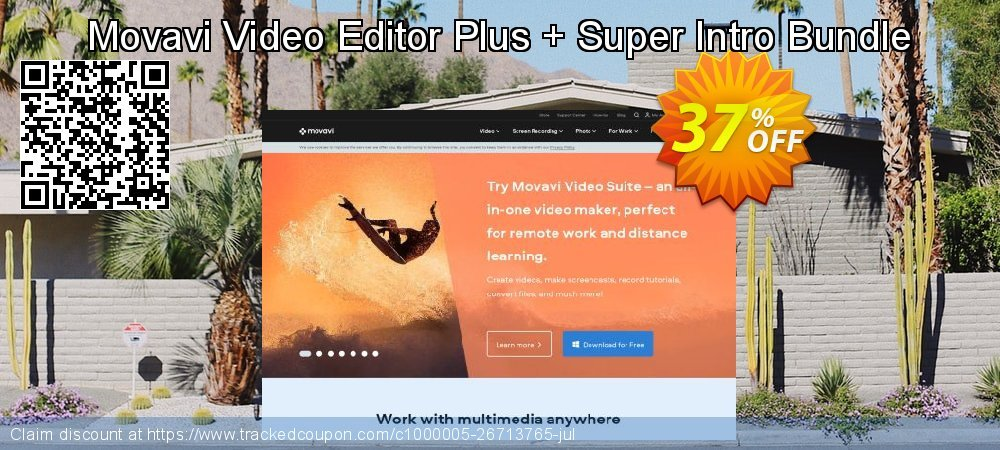 Movavi Video Editor Plus + Super Intro Bundle coupon on New Year's Day super sale
