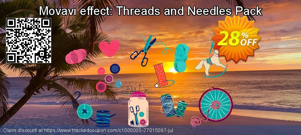Movavi effect: Threads and Needles Pack coupon on Lunar New Year promotions