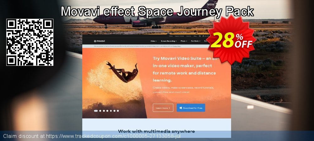 Movavi effect Space Journey Pack coupon on Thanksgiving promotions