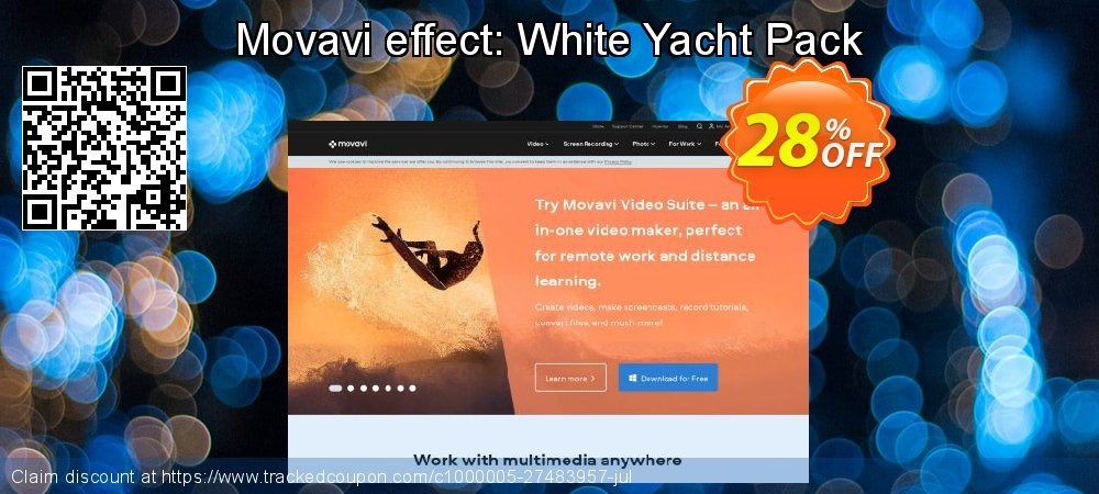 Movavi effect: White Yacht Pack coupon on Back to School promo offering discount