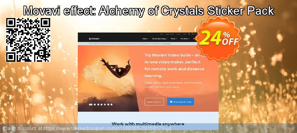 Movavi effect: Alchemy of Crystals Sticker Pack coupon on Halloween deals