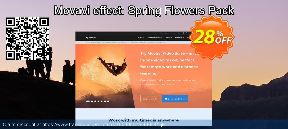 Movavi effect: Spring Flowers Pack coupon on Exclusive Student discount discounts
