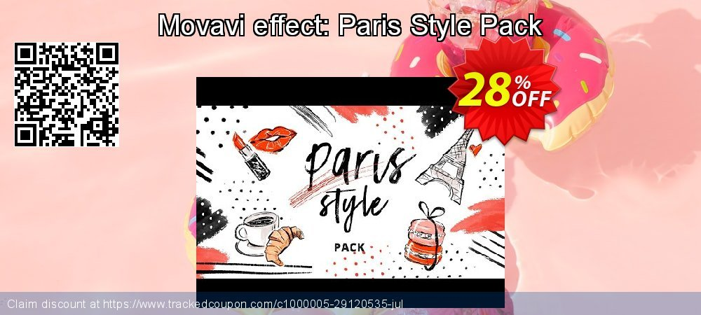 Movavi effect: Paris Style Pack coupon on Lunar New Year offering sales