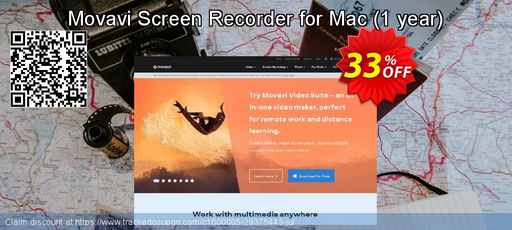Movavi Screen Recorder for Mac - 1 year  coupon on Lunar New Year super sale