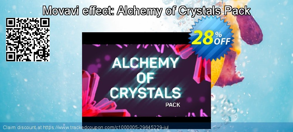Movavi effect: Alchemy of Crystals Pack coupon on Black Friday sales