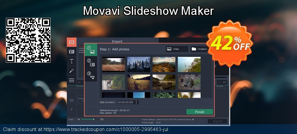 Movavi Slideshow Maker coupon on National French Fry Day offering discount