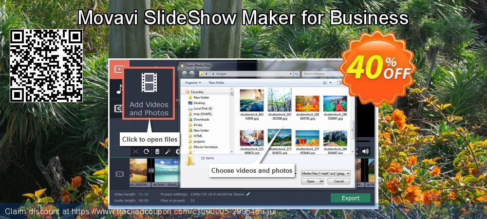Movavi SlideShow Maker - Business coupon on Halloween offering discount
