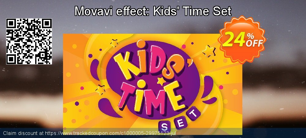 Movavi effect: Kids' Time Set coupon on Black Friday promotions
