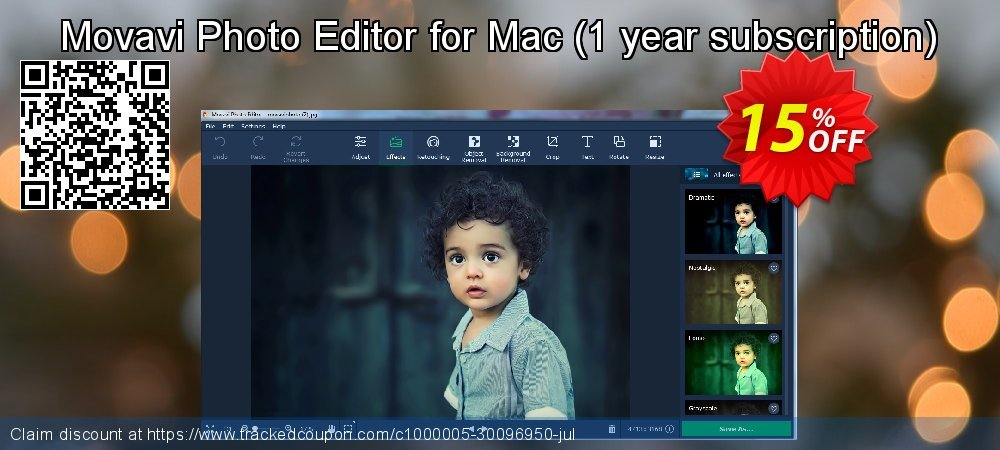 Movavi Photo Editor for Mac - 1 year subscription  coupon on Exclusive Student deals sales