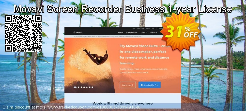 Movavi Screen Recorder - Business  coupon on Thanksgiving super sale