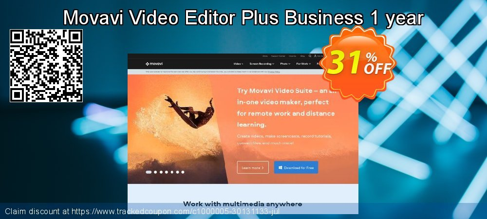 Movavi Video Editor Plus - Business 1 year coupon on Halloween offer