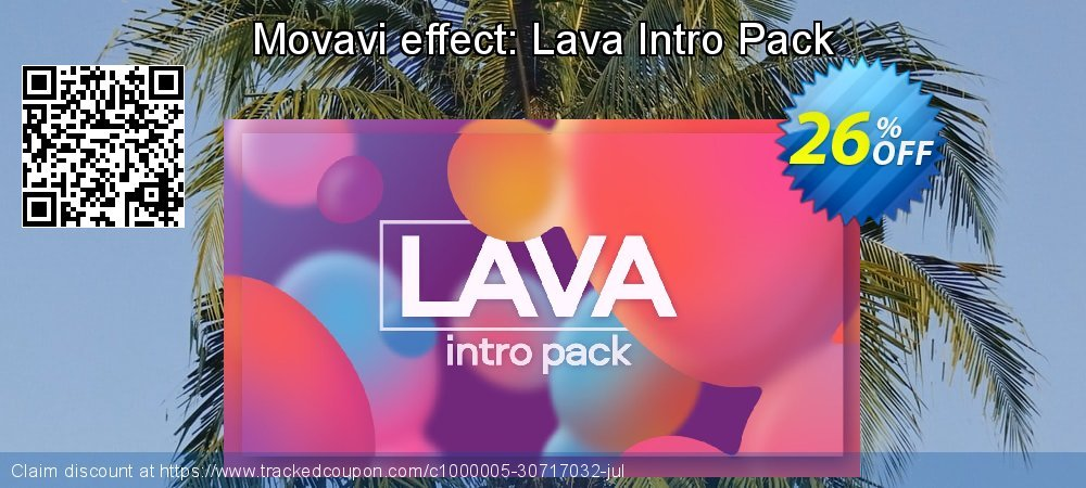 Movavi effect: Lava Intro Pack coupon on Thanksgiving offer