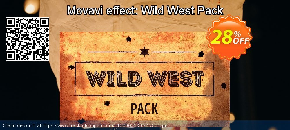 Movavi effect: Wild West Pack coupon on Black Friday offer