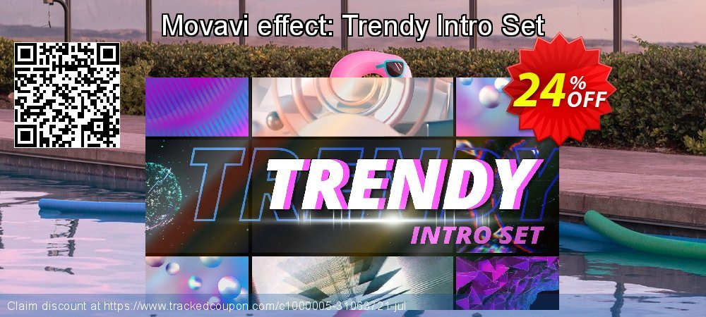 Movavi effect: Trendy Intro Set coupon on Black Friday offer