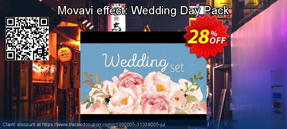 Movavi effect: Wedding Day Pack coupon on Year-End discount