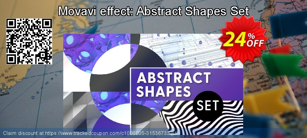 Movavi effect: Abstract Shapes Set coupon on Black Friday deals