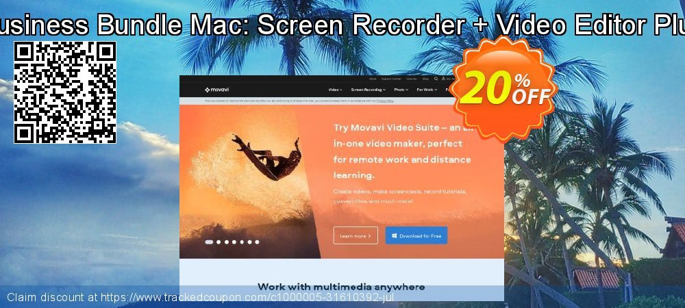 Business Bundle Mac: Screen Recorder + Video Editor Plus coupon on Thanksgiving offering discount