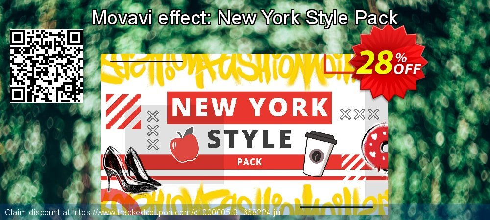 Movavi effect: New York Style Pack coupon on Thanksgiving offer